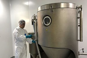 Niro Mobile Minor Spray Dryer in Upperton's GMP Clean Suite for GMP Spray Drying