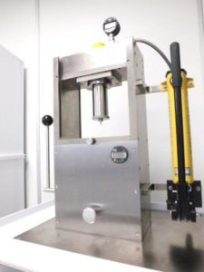 Natoli Single Station Tablet Press at Upperton Pharma Solutions formulation development labs