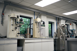 Upperton Pharma Solutions Spray Drying lab for Formulation Development with two Buchi B290 spray dryers and a 4M8-TrX ProCepT spray dryer